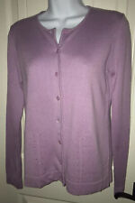 NWT Real Clothes Saks Fifth Avenue Lilac Purple Cardigan Petite Silk Cashmere