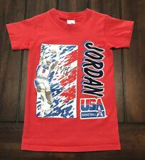 Olympics USA Basketball Michael Jordan Vintage Shirt Kids Small
