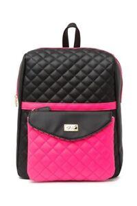 NWT Luv Betsey Johnson Lexie Backpack Detachable Crossbody Neon Pink Bookbag
