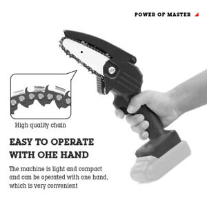 220V Portable Handheld Saw Rechargeable Cordless Electric Chainsaw Wood Cutter