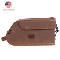 Tourbon Wax Canvas Bike Rear Pack Insulated Lunch Cooler Bag Tail Seat Pannier