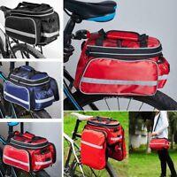 UK Waterproof Bicycle Pannier Seat Bike Cycling Rear Tail Rack Storage Pouch Bag