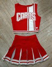 Real High School Varsity Cheer White Red Silver Cardinals Cheerleading Uniform