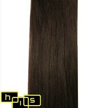 "20"" CLIP IN REMY HUMAN HAIR EXTENSIONS DARK BROWN #2"