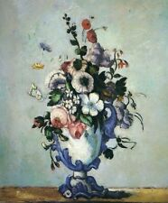 Paul Cezanne Flowers in Vase Floral Home Decor Art Print Canvas Small Poster