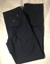 Polo Ralph Lauren Boys Navy Blue Chinos School Uniform Dress Pants Size 18