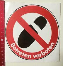 Aufkleber/Sticker: Betreten Verboten (300316122)
