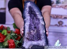 Amethyst Geode 15 lb Crystal Cathedral w/ Mineral Striations Cosmiccuts JG-4G