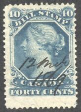 CANADA Bill Revenue Stamp Van Dam FB31