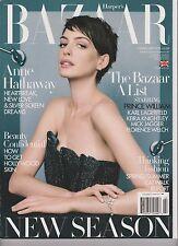 HARPER'S Bazaar Magazine GB Février 2013, Anne Hathaway, The Bazaar A Liste.