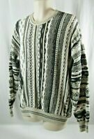 Alberto Danti Sz XLG Textured Coogi Cosby Biggie Style Hip Hop Sweater VTG