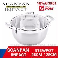 NEW Scanpan Impact Covered Stewpot 26cm/5L, 28cm/6L or 32cm/8.5L