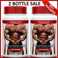 120 TRIBULUS TERRESTRIS PILLS EXTRACT 96% SAPONINS MUSCLE GROWTH ENERGY CAPSULES