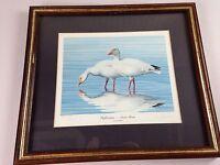 Reflections Snow Geese VTG Artist Signed 1985 R L Kothenbeutel Framed 4767/20000