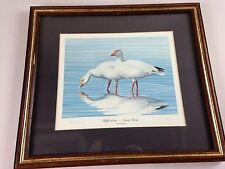 Reflections Snow Geese VTG Artist Signed 1985 R L Kothenbeutel Framed 4767/20000