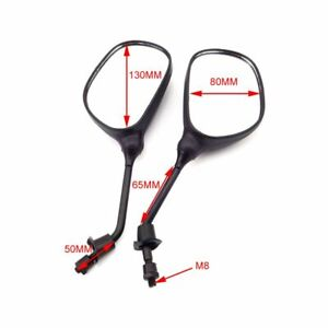 8mm Rearview Mirrors For ATV Quad Pit Dirt Moped Scooter Motorcycle Motor Bike