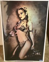 Hardlee Thinn - Star Wars Slave Leia -Virgin Foil Variant Only 30 Made!!! *NM*