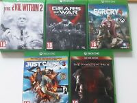 XBOX ONE Games 18+ Bundle: farcry 4, the evil within 2, gears of war (550)