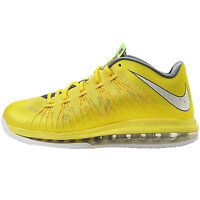 Nike Air Max Lebron X Low Sonic Yellow Mens 579765-700 Basketball Shoes Size 8.5