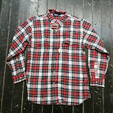 Vintage Men's WOOLRICH Red & Green Plaid Button Up Shirt Size (L) (NEW w/ TAG)