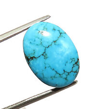 LARGE 16x12mm OVAL CABOCHON-CUT NATURAL CHINESE TURQUOISE GEMSTONE