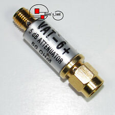 1×USED Mini-Circuits VAT-6+ DC-6GHz 6dB 1W SMA RF Coaxial Fixed Attenuator