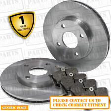 Front Brake Pads + Brake Discs Full Axle Set 255mm Vented For Toyota Prius 1.5