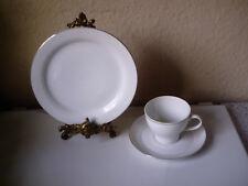 Thomas Porzellan Kaffeegedeck Rotunda  Weiß mit Platinstreifen,1x Gebraucht,Top