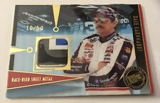 Dale Earnhardt Sr. Race Used 3 Color Sheet Metal Press Pass 10/50 Rare