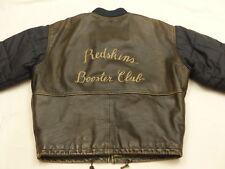 Redskins Vintage Chaqueta de cuero abrigo parka Booster Club Informal Talla: XL