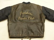 * redskins vintage chaqueta de cuero Parka abrigo * Booster Club * casual * GR: XL * Tip Top