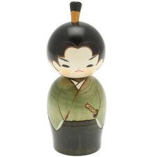 "1x Japanese 5-5/8""H Kokeshi Hiro the Jr Samurai Kokeshi Doll #590-215"