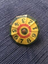 Vintage metal spinning top with numbers, gambling style
