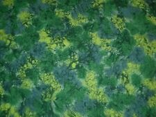 Green cotton fabric lava print quilting material Andover textile 2 yards 11