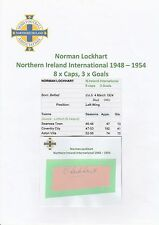 NORMAN LOCKHART NORTHERN IRELAND INT 1948-1954 RARE ORIGINAL HAND SIGNED CUTTING