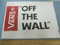 VANS skateboard snowboard surf  Big Off The Wall Sticker New Flawless Stock