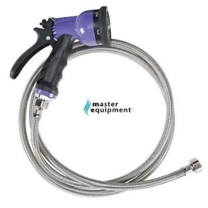 Master Equipment Stainless Steel Spray Hose Set&6-in-1 Sprayer Nozzle Bath Tub