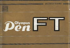 Olympus Instrctions for Olympus Pen FT
