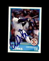 Ellis Burks Hand Signed 1988 Score Young Superstars Boston Red Sox Autograph