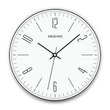 D135 Nordic Style White Metal Glass Diameter 30CM Decoration Wall Clock A