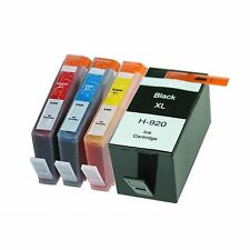 4 NON-OEM 920XL INK CARTRIDGES HP OFFICEJET 6000 6500 6500A 7000 7500A HP920