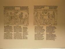 Planche gravure Moyen age Pierre le Rouge danse macabre des hommes Moinne Usurie
