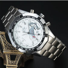 Sewor Fashion gents Silver Stainless Steel Mechanical Automatic Mens Watch 740/2