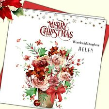 Personalised Christmas Card Grand Daughter in Law Niece Sister Cousin Friend