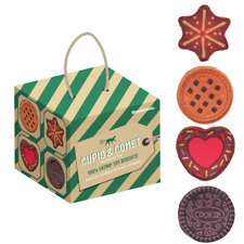 Cat Toys 4 Rosewood Catnip Stuffed  Biscuit Shaped Xmas Christmas Tree Hanging