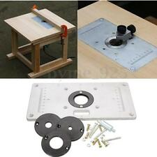 Aluminum Router Woodworking Table Insert Plate with 4pcs Rings 235 x 120 x 8mm