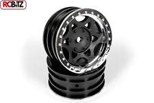 Axial 1.9 Walker Evans Wheels Chrome Black 2 AX08140 GLUE ON Plastic SCX10