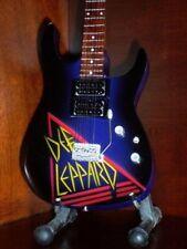 Mini Guitar DEF LEPPARD  Art GIFT Memorabilia FREE STAND Display