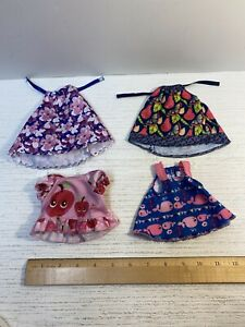 LOT of 4 Baby Alive Doll Dress Replacement Clothes / Whales, Fruit, Flowers,