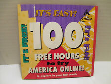 Rare VTG 1998 AOL 4.0 America Online 100 Free Hours Install CD Dial-Up ~ Sealed